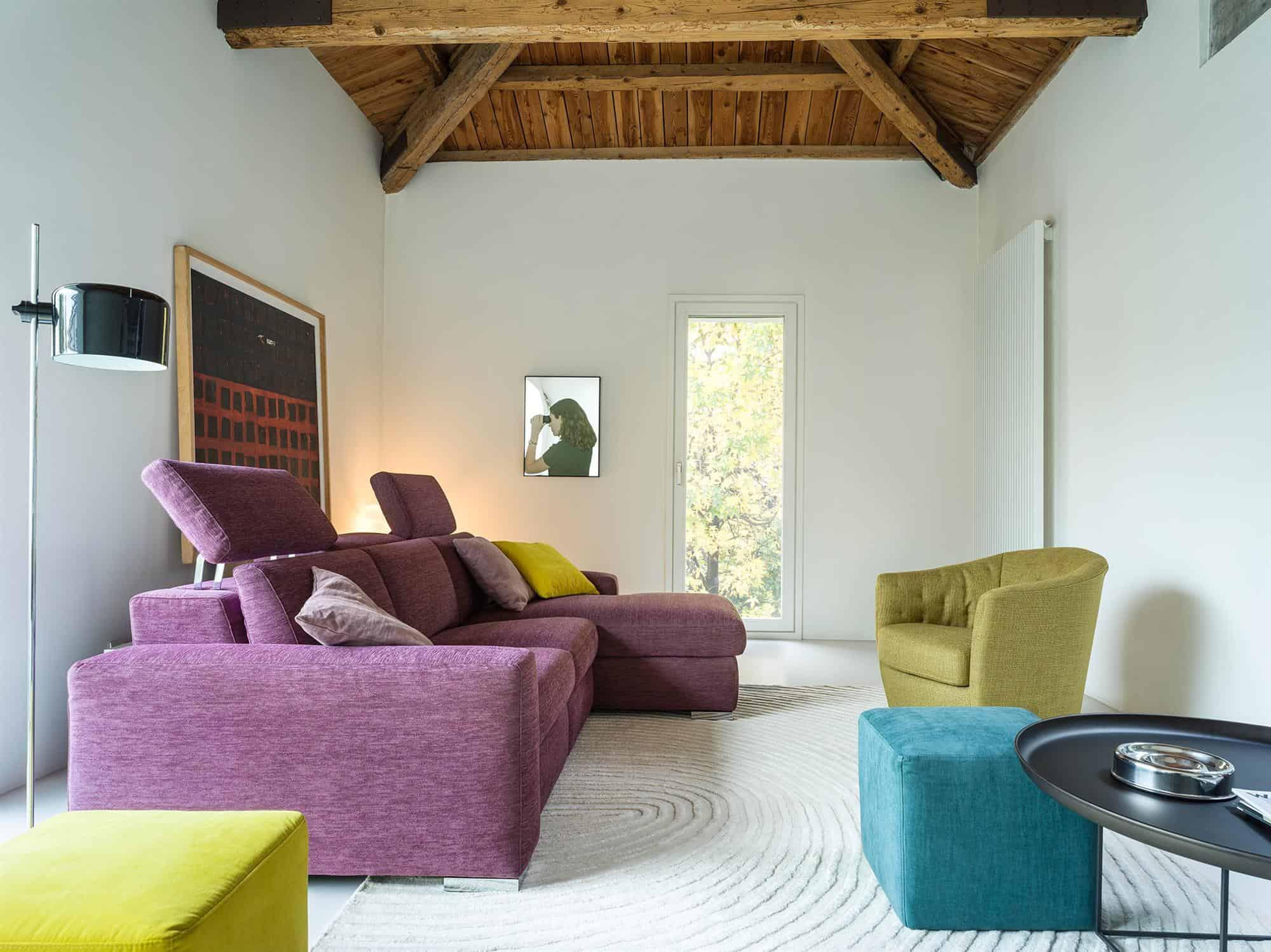 Bellagio small – Assicurati un completo relax per il tuo living – 264×170 – Tessuto Sintonia Malva