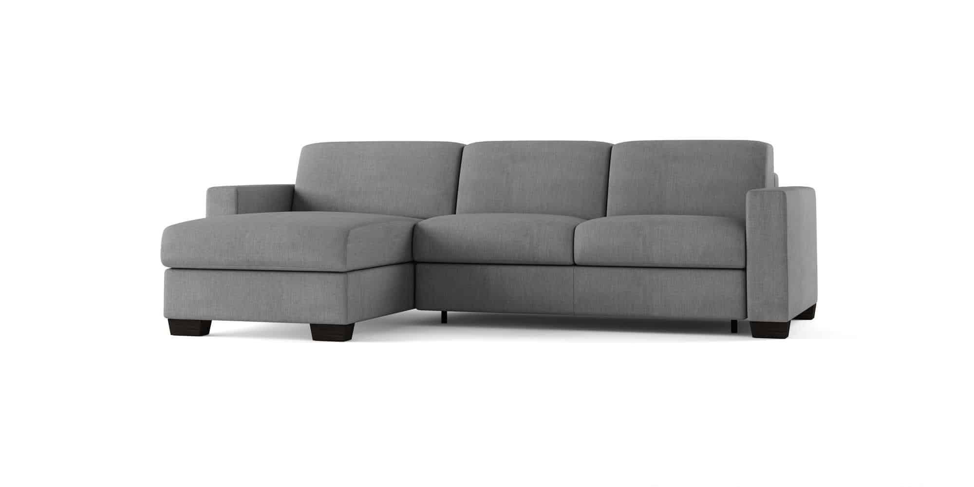 Amerigo large – Divano Letto con Chaise Longue – 254×166(204)