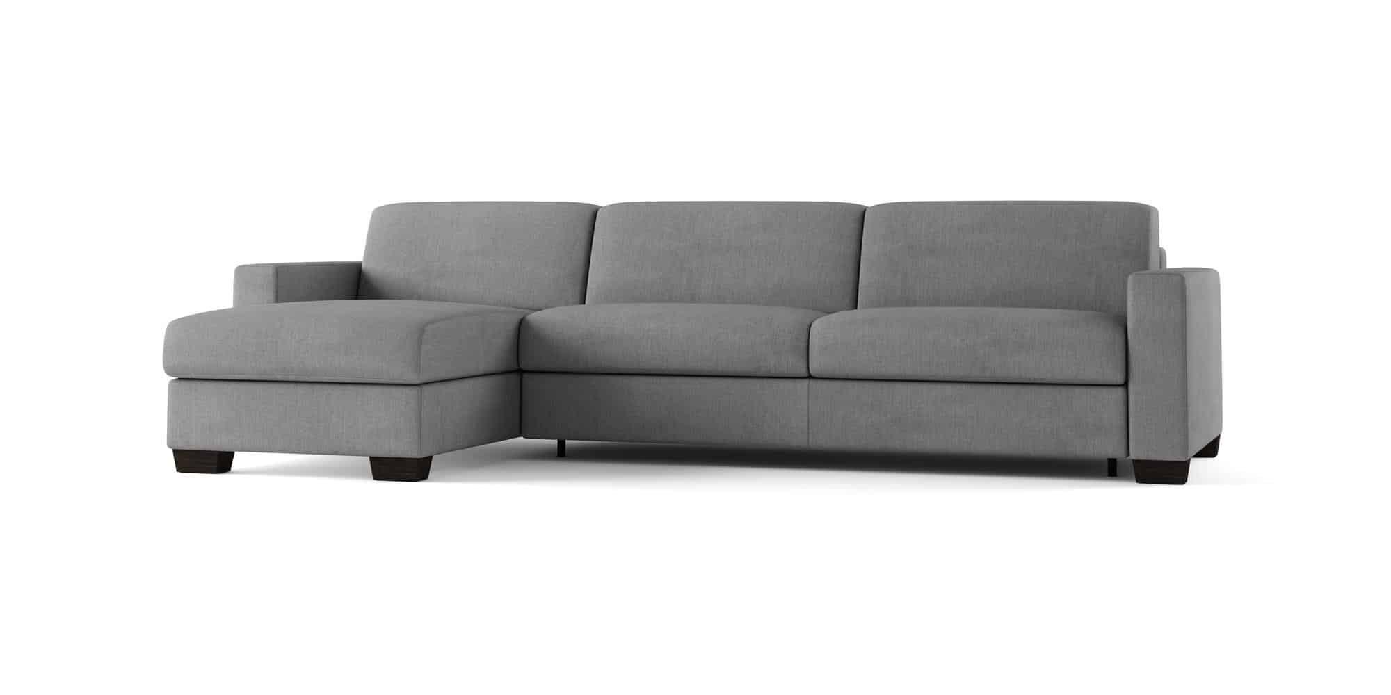 Amerigo large – Divano Letto con Chaise Longue – 274×166(204)