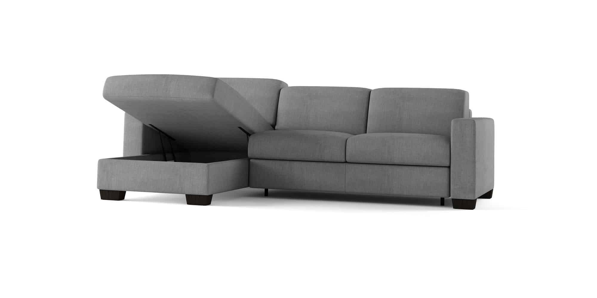Amerigo large – Composizione con Chaise Longue Contenitore – 254×166