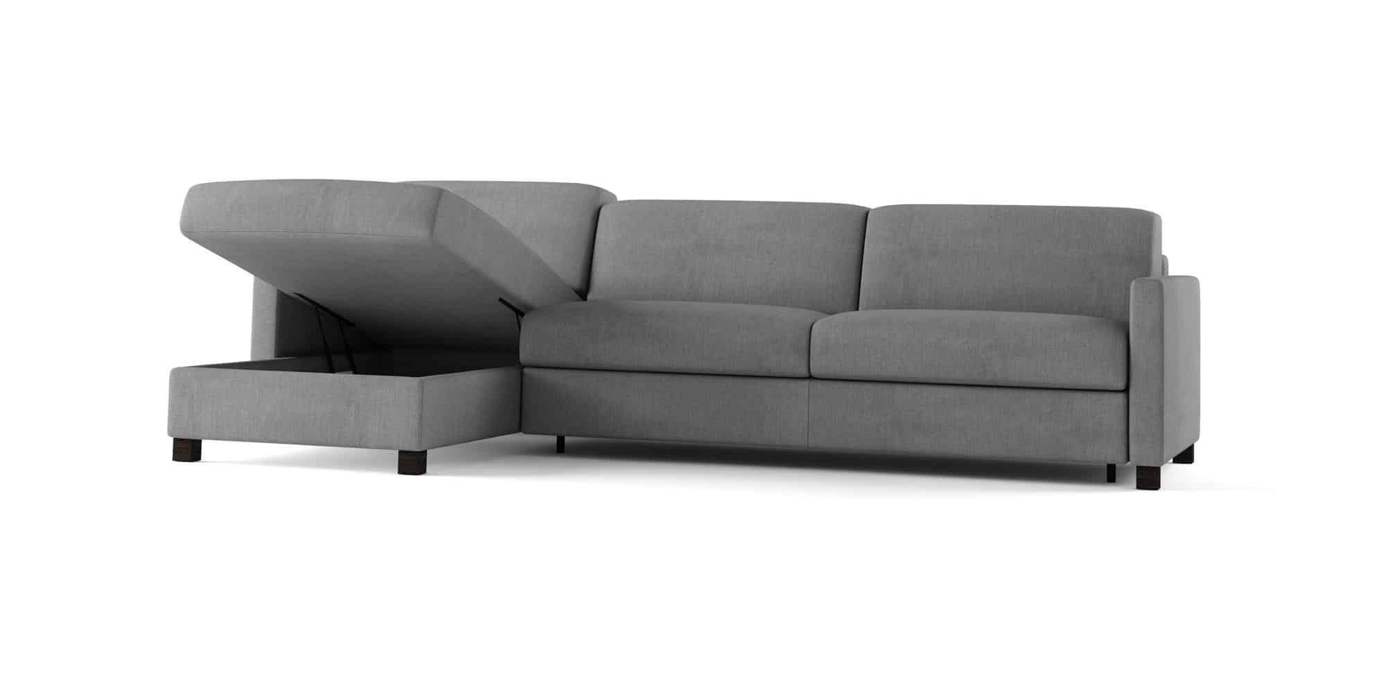 Amerigo small – Composizione con Chaise Longue Contenitore – 280×166