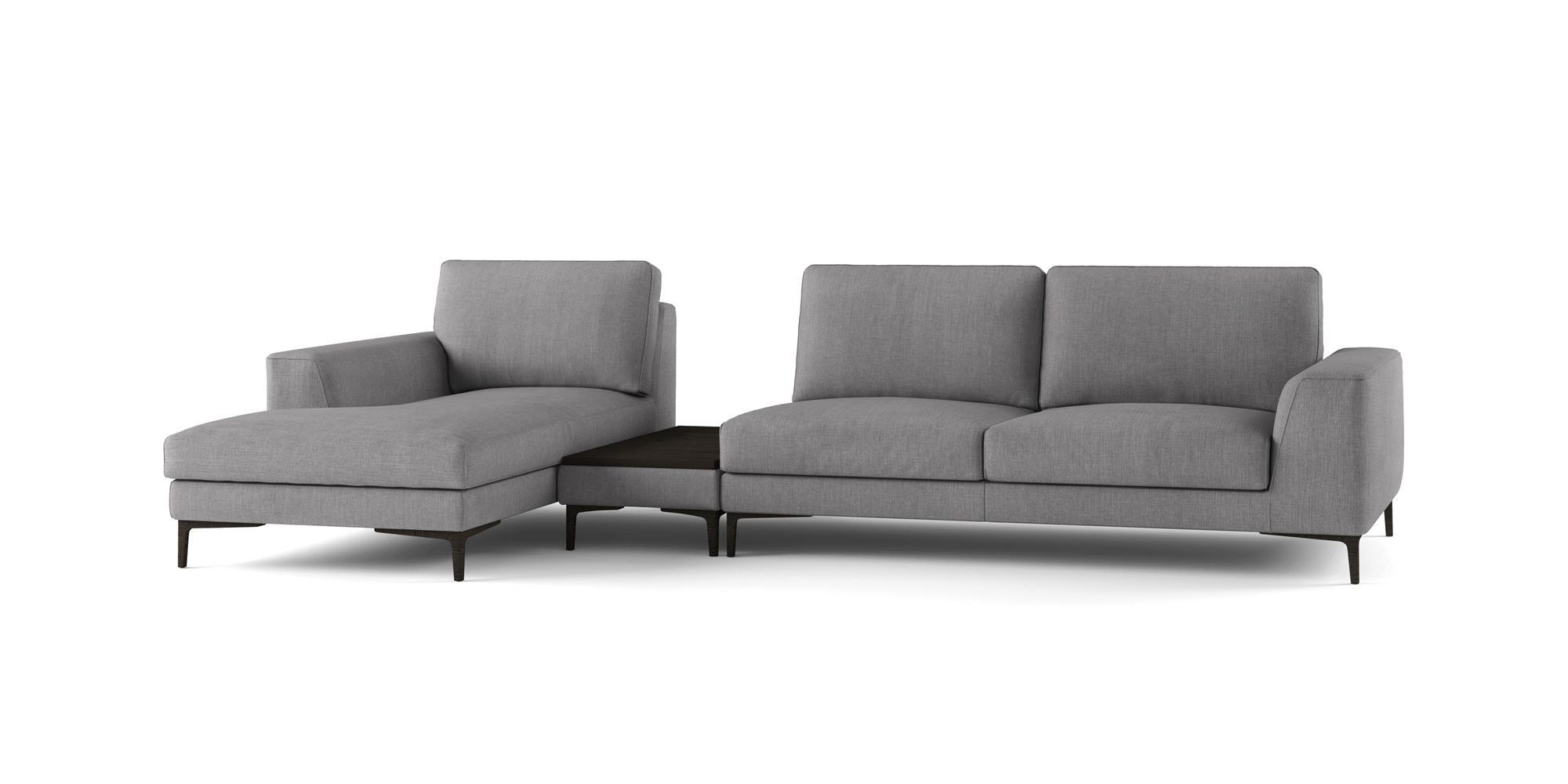 Caruso – Composizione con Pouf Vassoio e Chaise Longue – 327×156