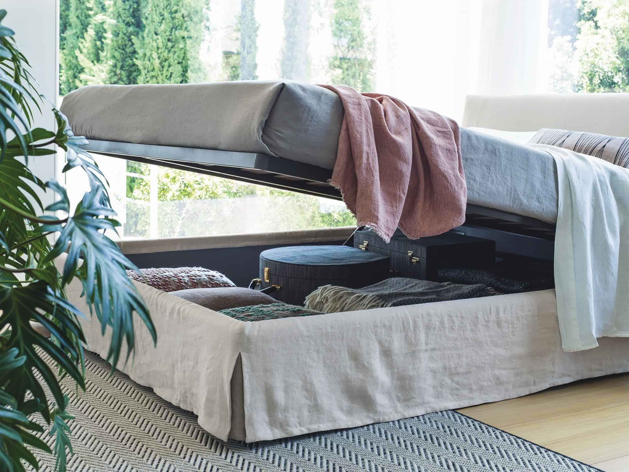 Miranda – Ottimizza i tuoi spazi grazie al pratico cofano contenitore – 2 piazze XL